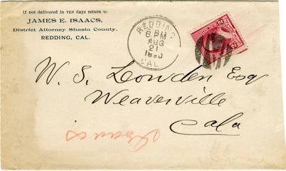 Issacs Envelope 1890