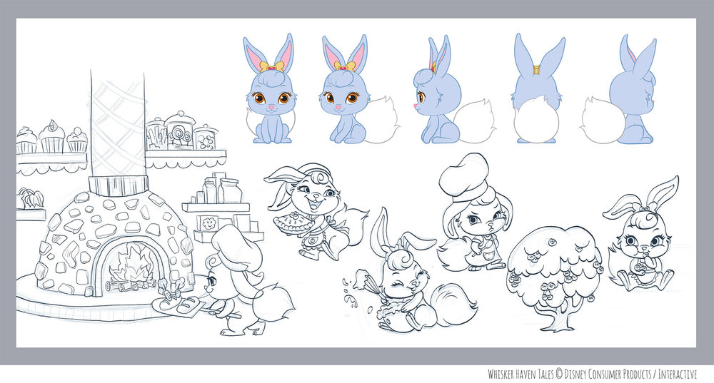 Character design for Whisker Haven Tales
