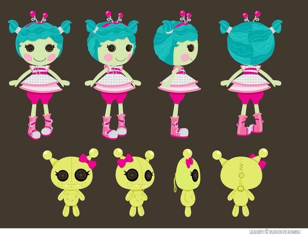 Character turnaround for Lalaloopsy animated series based on toy designs from MGA