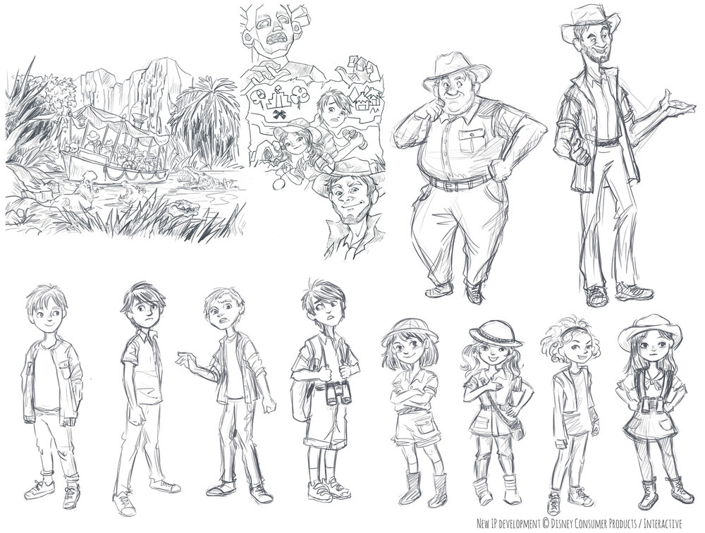 Character explorations for a book project