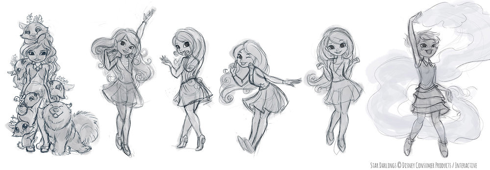 Rough poses for Star Darlings