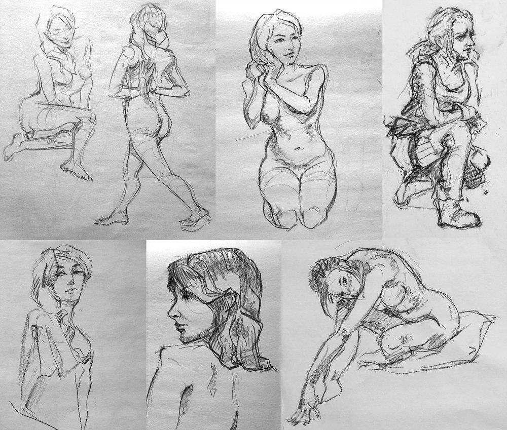 5-7 min poses