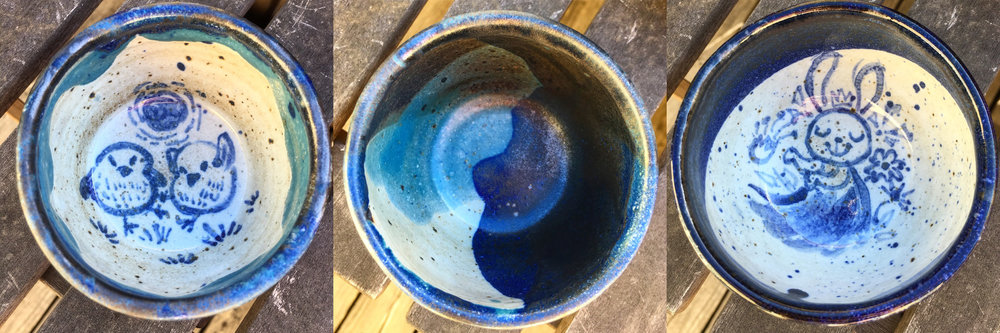 High fire ceramic cups