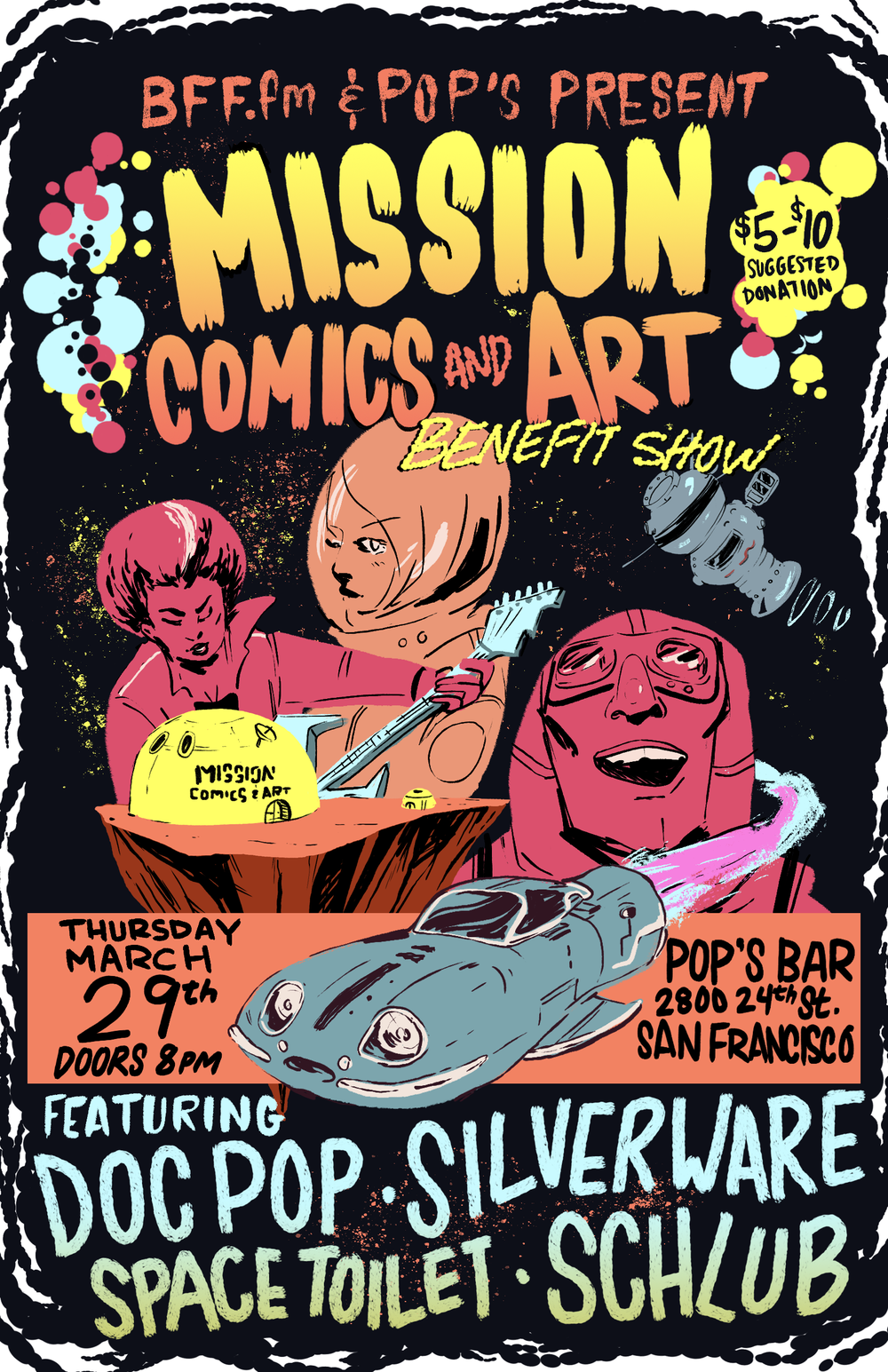 Mission Comics Benefit Show Poster