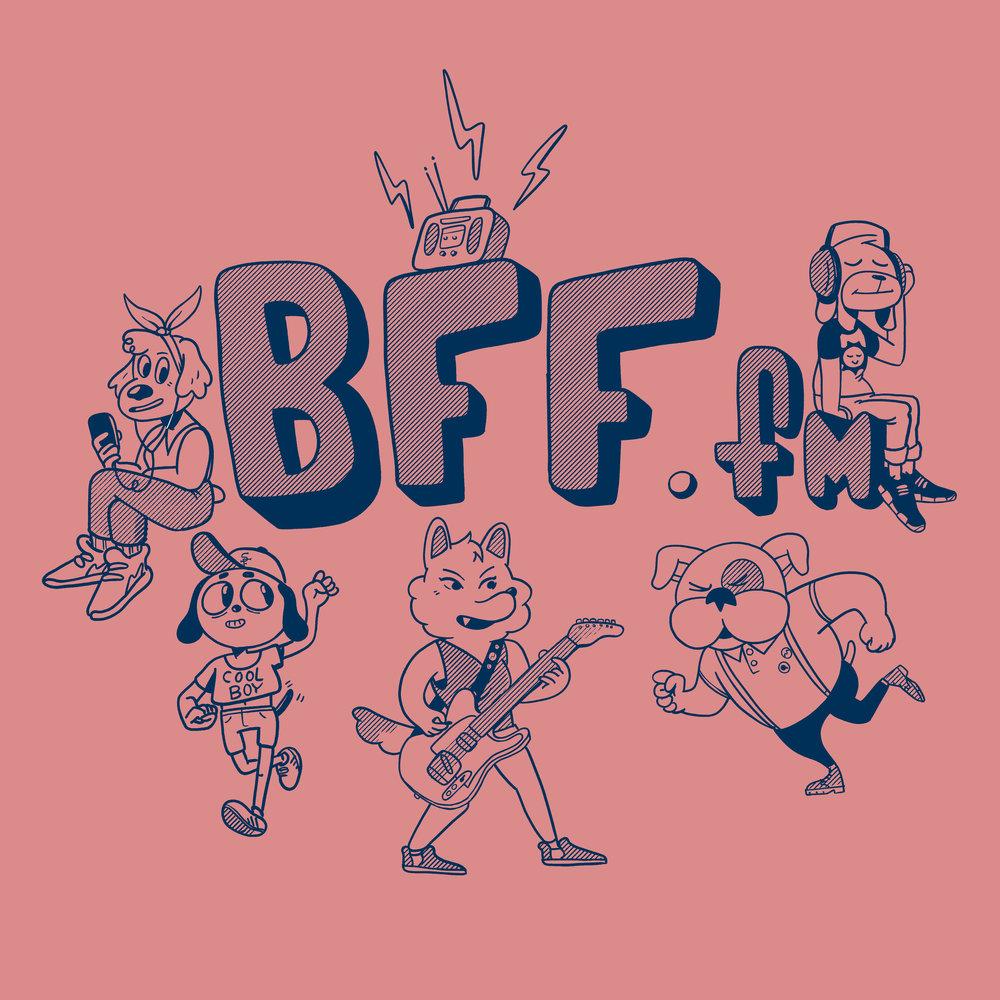 BFF.fm T-shirt Design