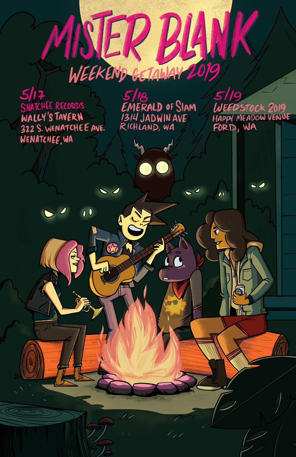 Mister Blank Spring Tour 2019 Poster