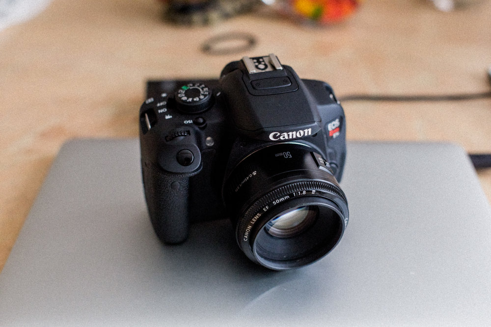 Canon Rebel T5i - Mounted w/ 50mm f1.8
