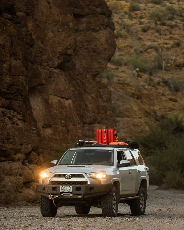 Exploring Box Canyon just south of Phoenix AZ on our Great Western Trail mapping expedition. #gwt #greatwesterntrail #radarrenegade #overlanding #offroading #toyota4runner #4runner #dirtroad #4x4