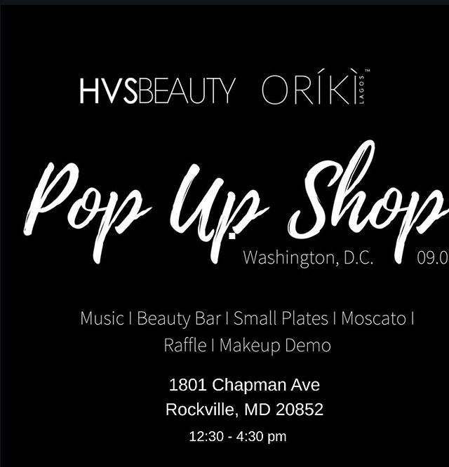 It's tomorrow! Looking forward to seeing all our guests at our DMV pop up shop with @orikigroup & @hvsbeauty. There will be lots of goodies and it promises to be a good time with the opportunity to buy some products, so be sure to bring a friend or two or three! #discoveroriki