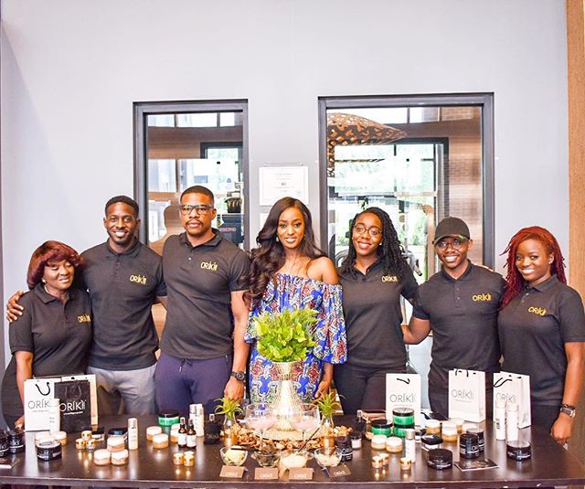 Because of them....a support system is everything. Grateful beyond articulation for all my family and friends who ensured that yesterday's @orikigroup pop up in the DMV was a success! Thank you, and you can always count on me to be there for you.
