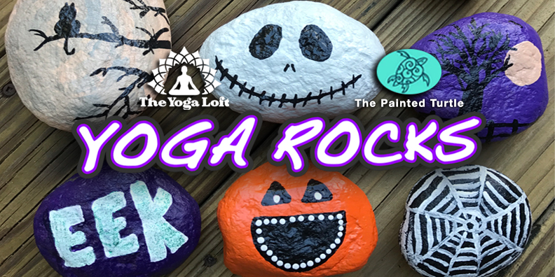 The Yoga Loft Titusville Yoga Loft Painted Turtle Titusville Yoga Rocks Halloween Rock Painting Event Flyer new.jpg