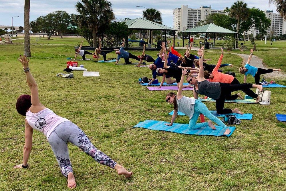 Titusville Yoga in the Park Sundays 9AM Sponsored by The Titusville Yoga Loft at Sand Point Park 101 N Washington Ave, Titusville, Florida 45.jpg