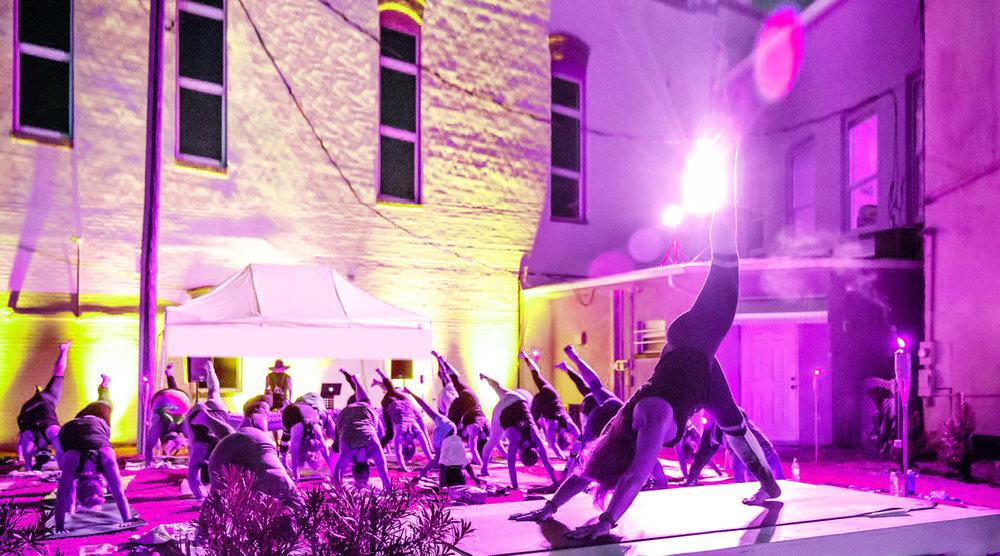 Yoga Beats with Anson Bingham & Angela McCaslin Yoga Beats (Previously Known as Vinyasa Beats) Yoga with Beats is Vinyasa Yoga, live DJ performance, percussion, crystal singing bowls, pranayama breathing exercises and meditation.jpg