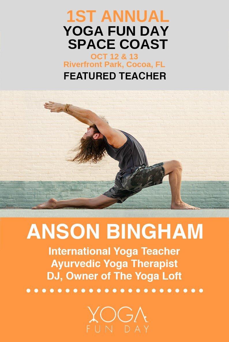 Sivananda Hatha Yoga with Anson Bingham at Yoga Fun Day Yoga