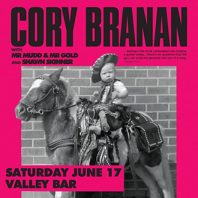 So we're beyond honored to share the stage this Saturday @valleybarphx with one of the greater songwriters in the game, sir Cory Branan. Dude is flawless at the craft. Local gem Shaun Skinner will kick things off - Doors at 7, show at 7:30. Come hang with us 🎣.