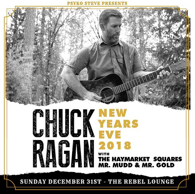 Just a few days left before our New Years Eve show @therebelphx with @chuckragan and the @haymarketsquares -2017 was weird, so we might as well party weird too 🤙🏻