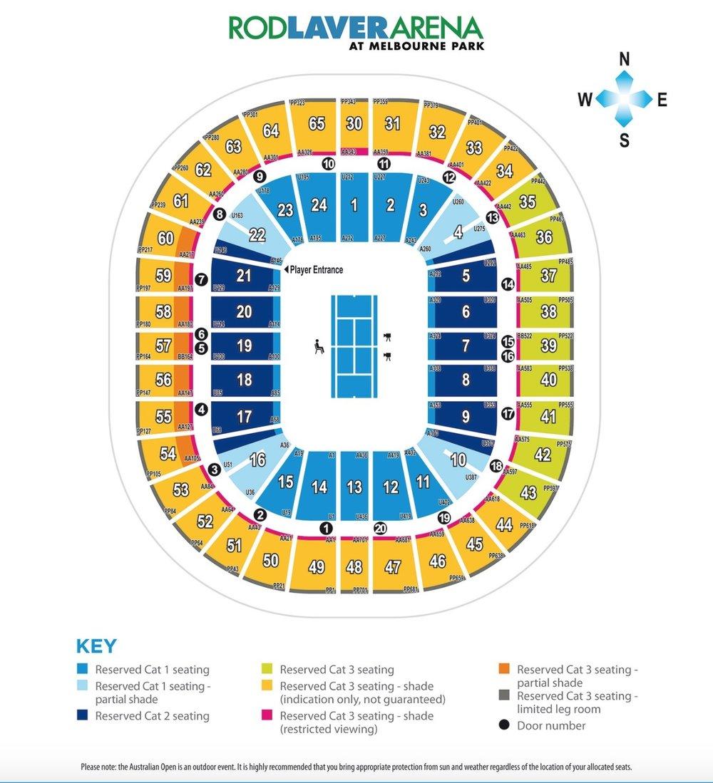 rod laver arena seating