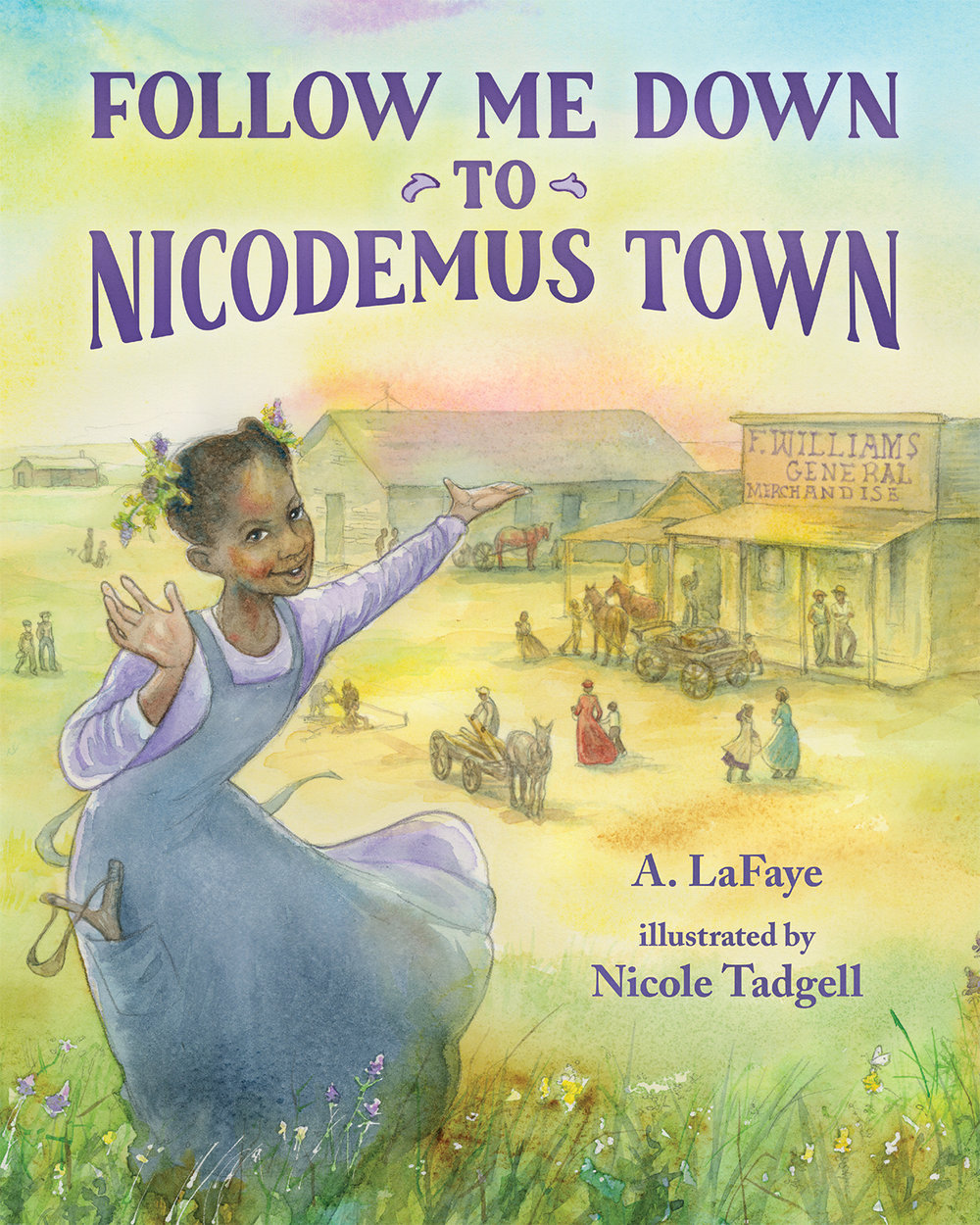 An upcoming picture book by Alexandria based on the real Nicodemus town in Kansas. Image courtesy of Alexandria LaFaye.