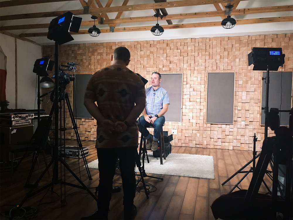 "Filming for ""Practicals"", an online course to help equip worship leaders."