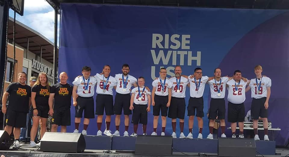 2018 Special Olympics USA Games Silver MedlistsTeam Minnesota Unified Flag Football