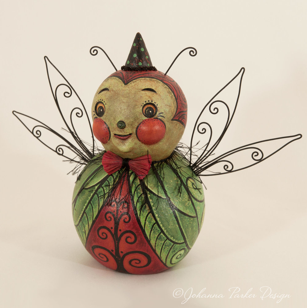 Katydid folk art