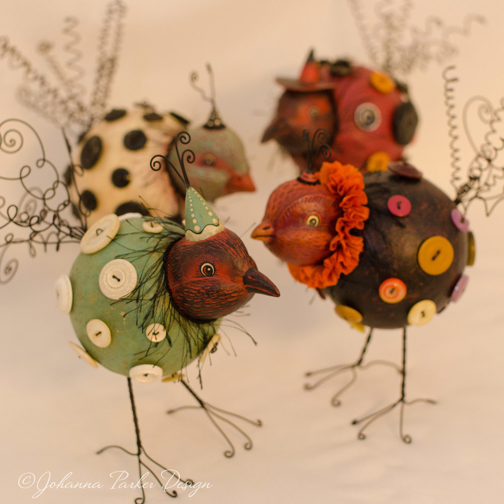 Button bird collection