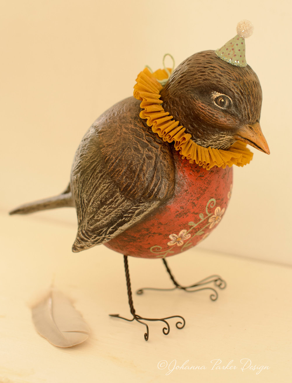 Folk art robin