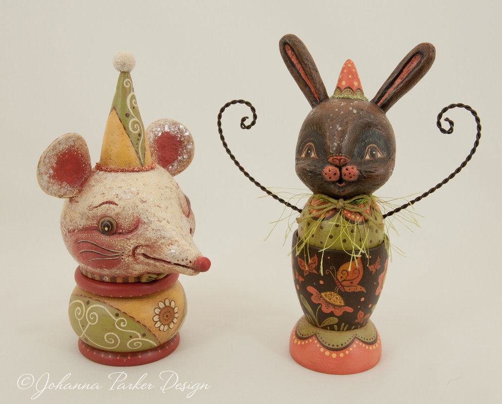 Spring mouse and bunny