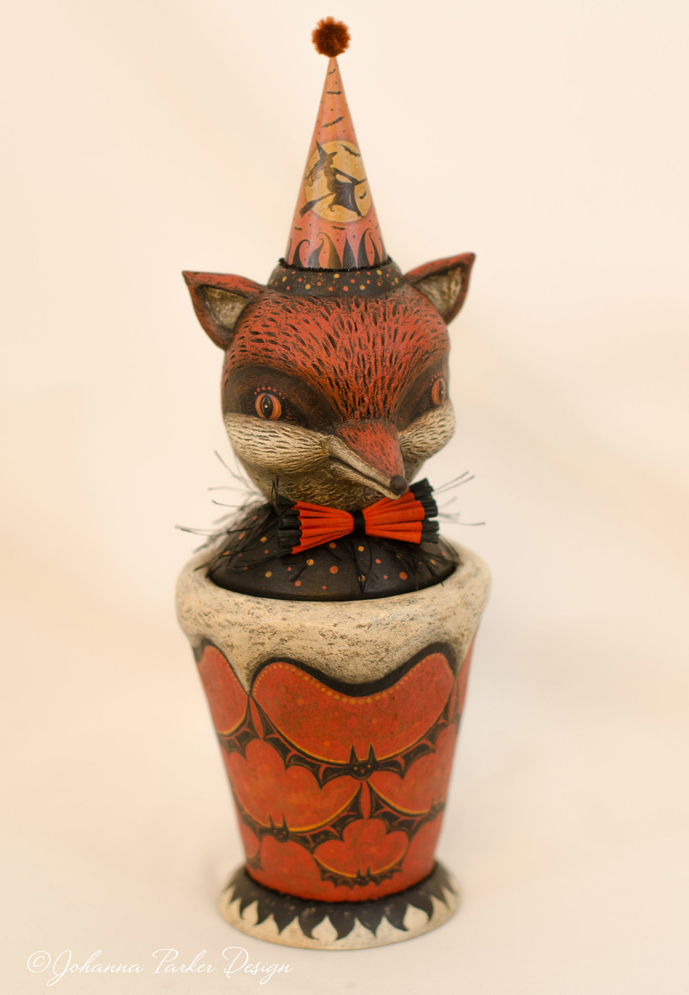 Halloween fox candy container