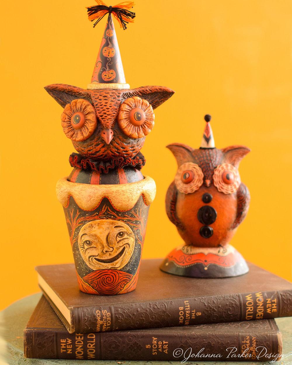 Halloween owl duo
