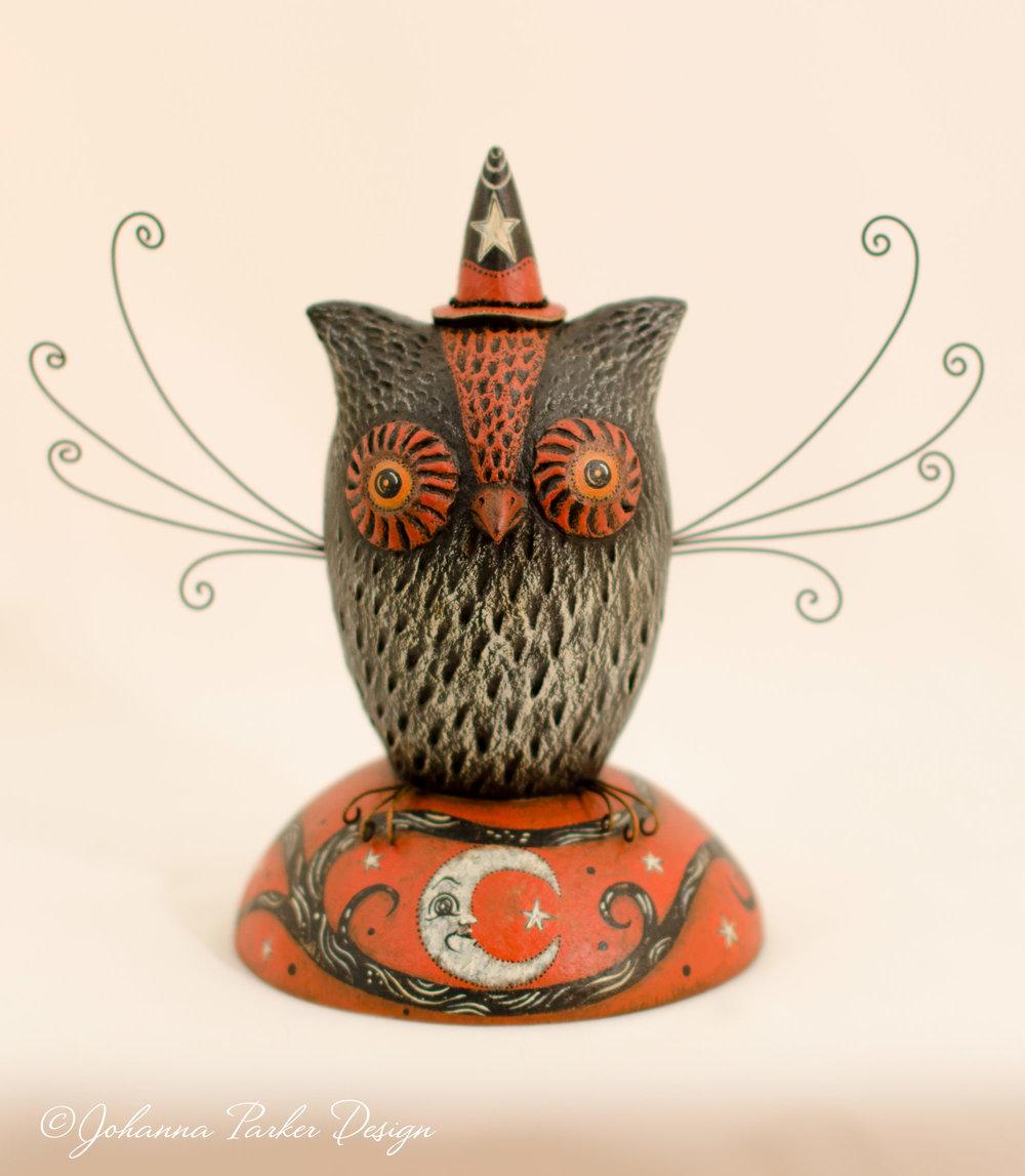 Crescent moon owl