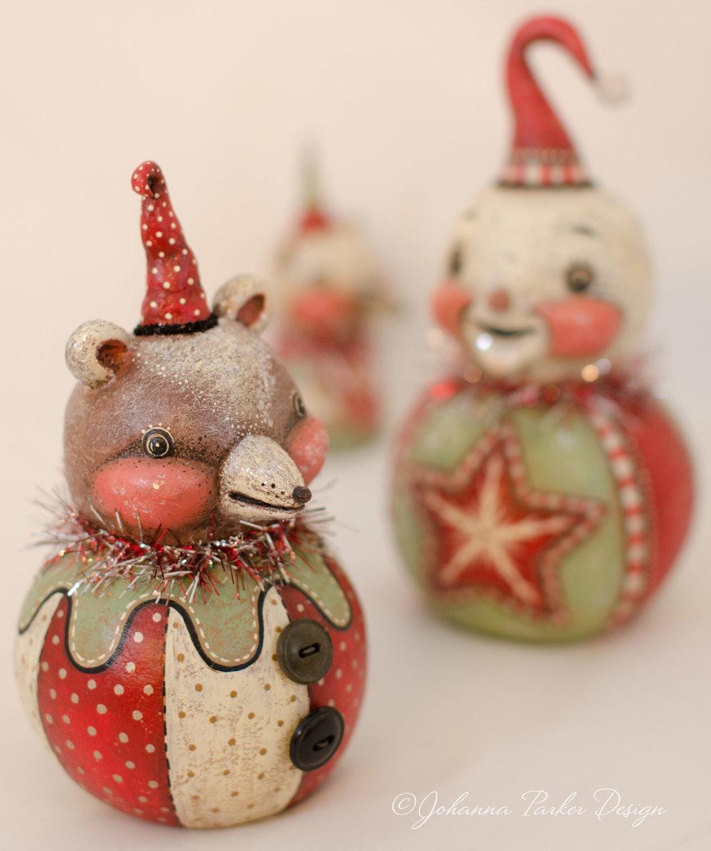 Christmas bear & snowman