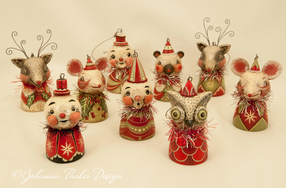 Christmas bell ornament group