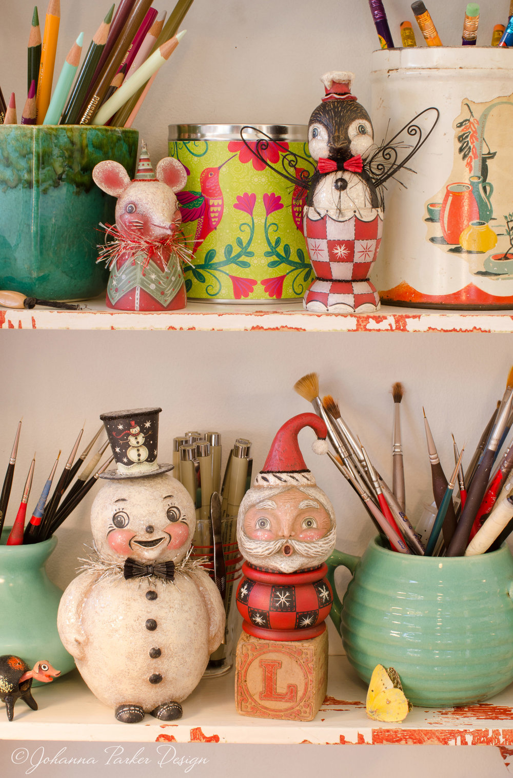 Christmas artist shelf