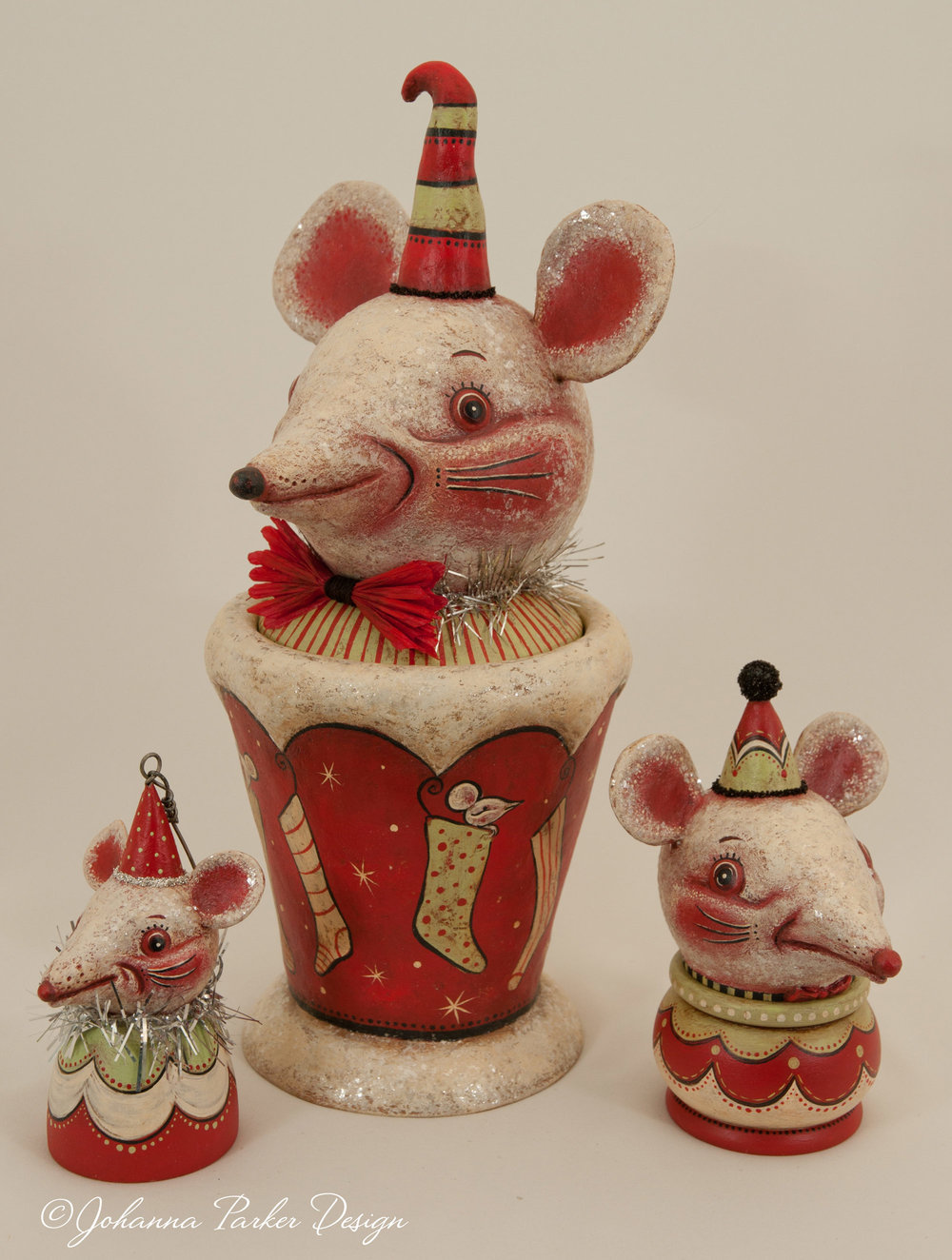 Holiday mouse trio