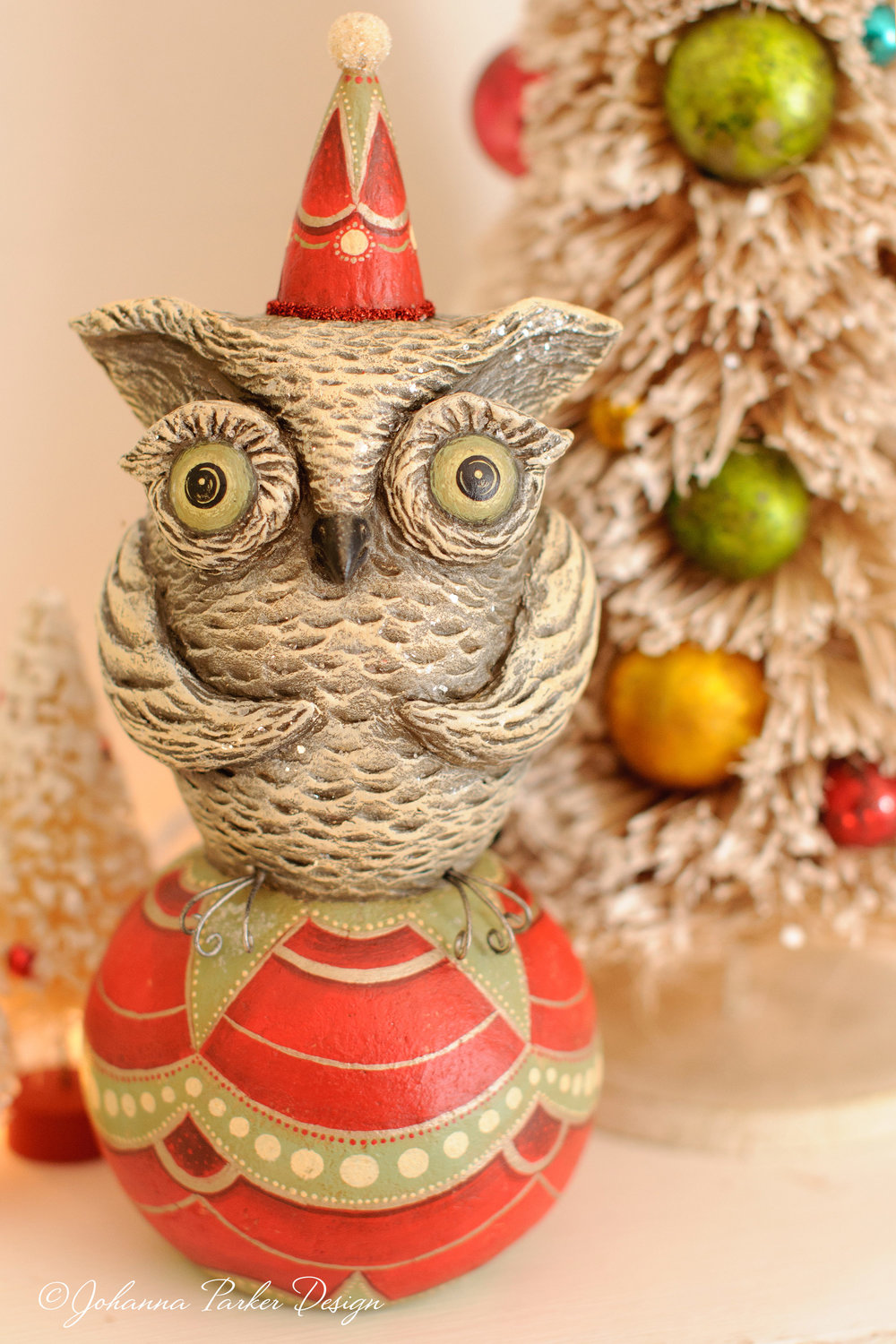 Ornament perched owl