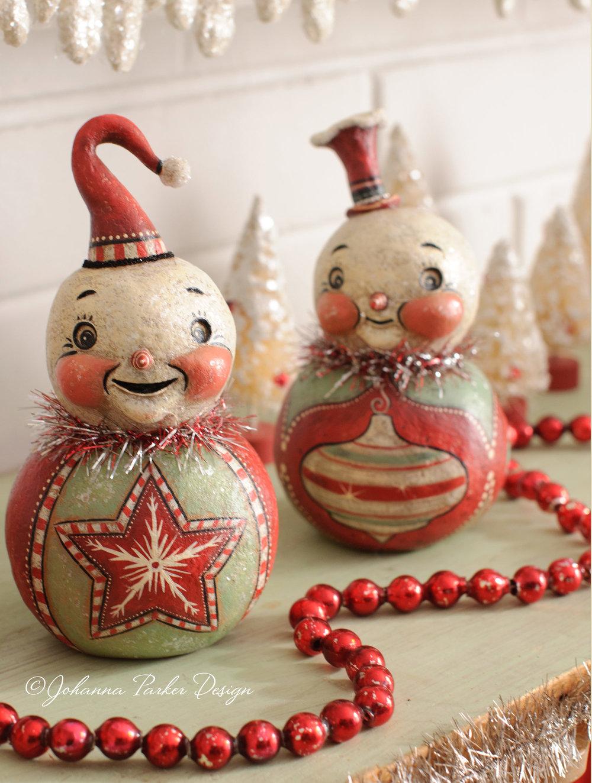 Snowman ball pair