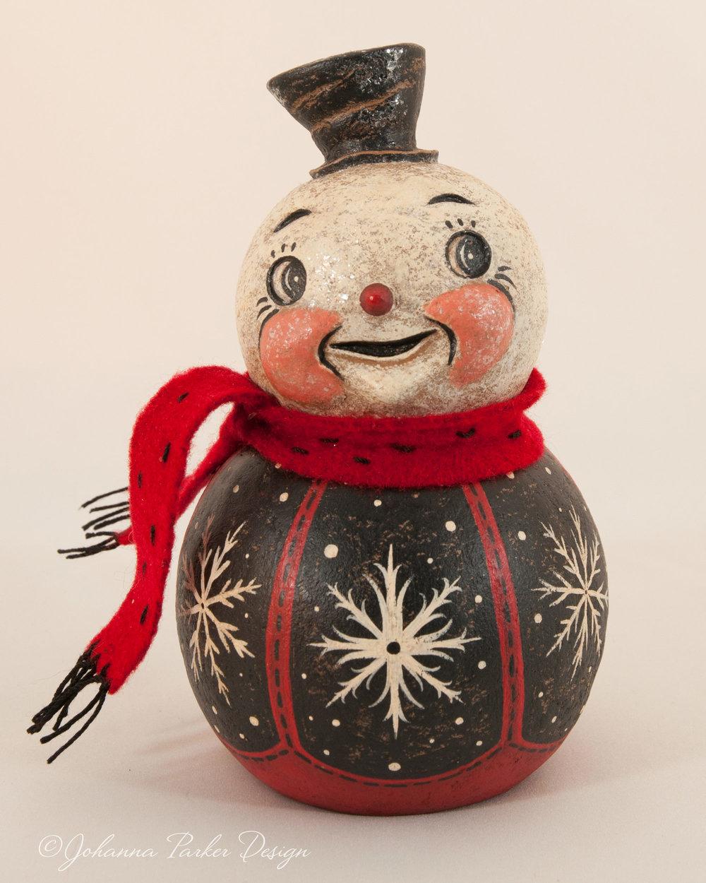 Cozy scarf snowman