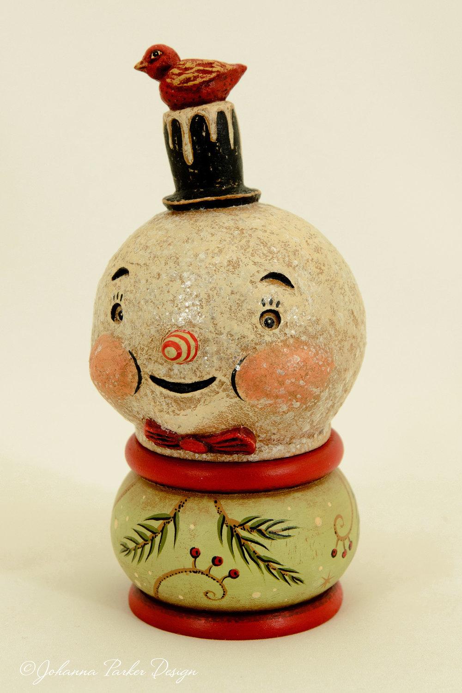 Snowman kettle & bird