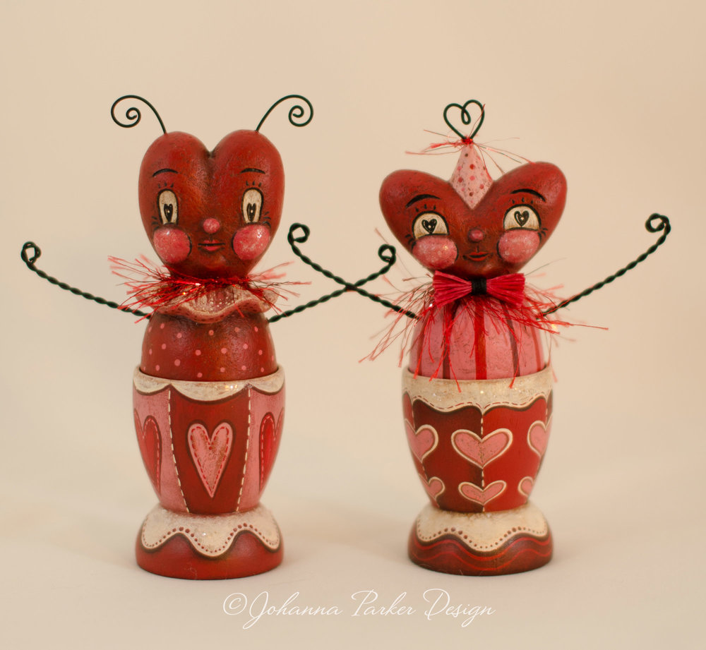 Heart head egg cups
