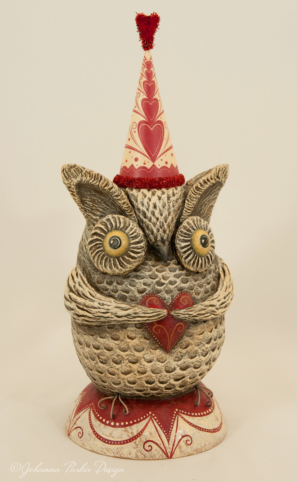 Valentine perched owl