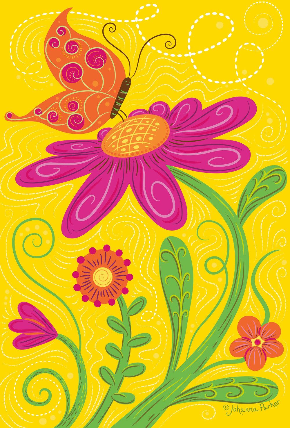 Garden butterfly bloom