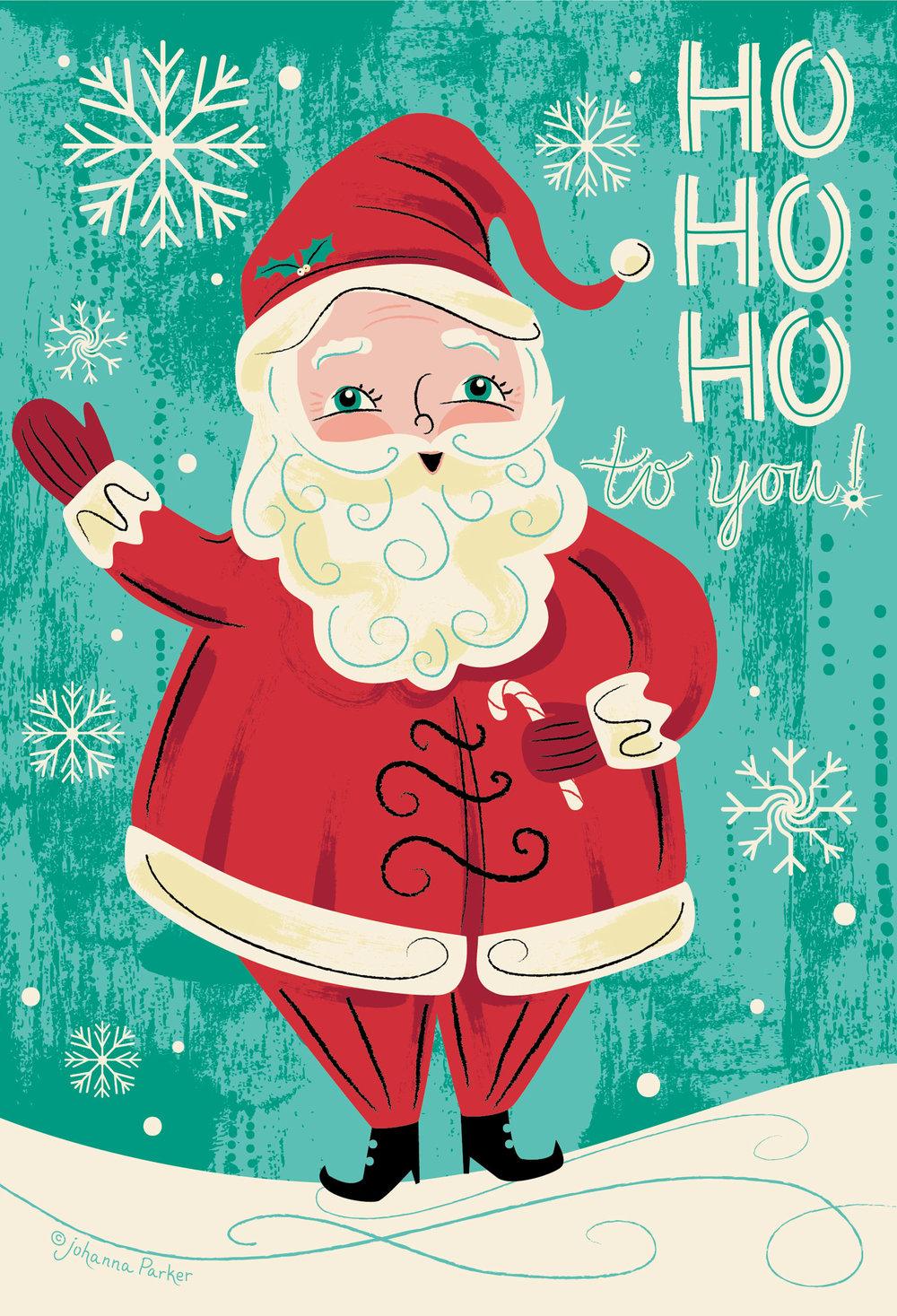 Retro Santa ho ho ho
