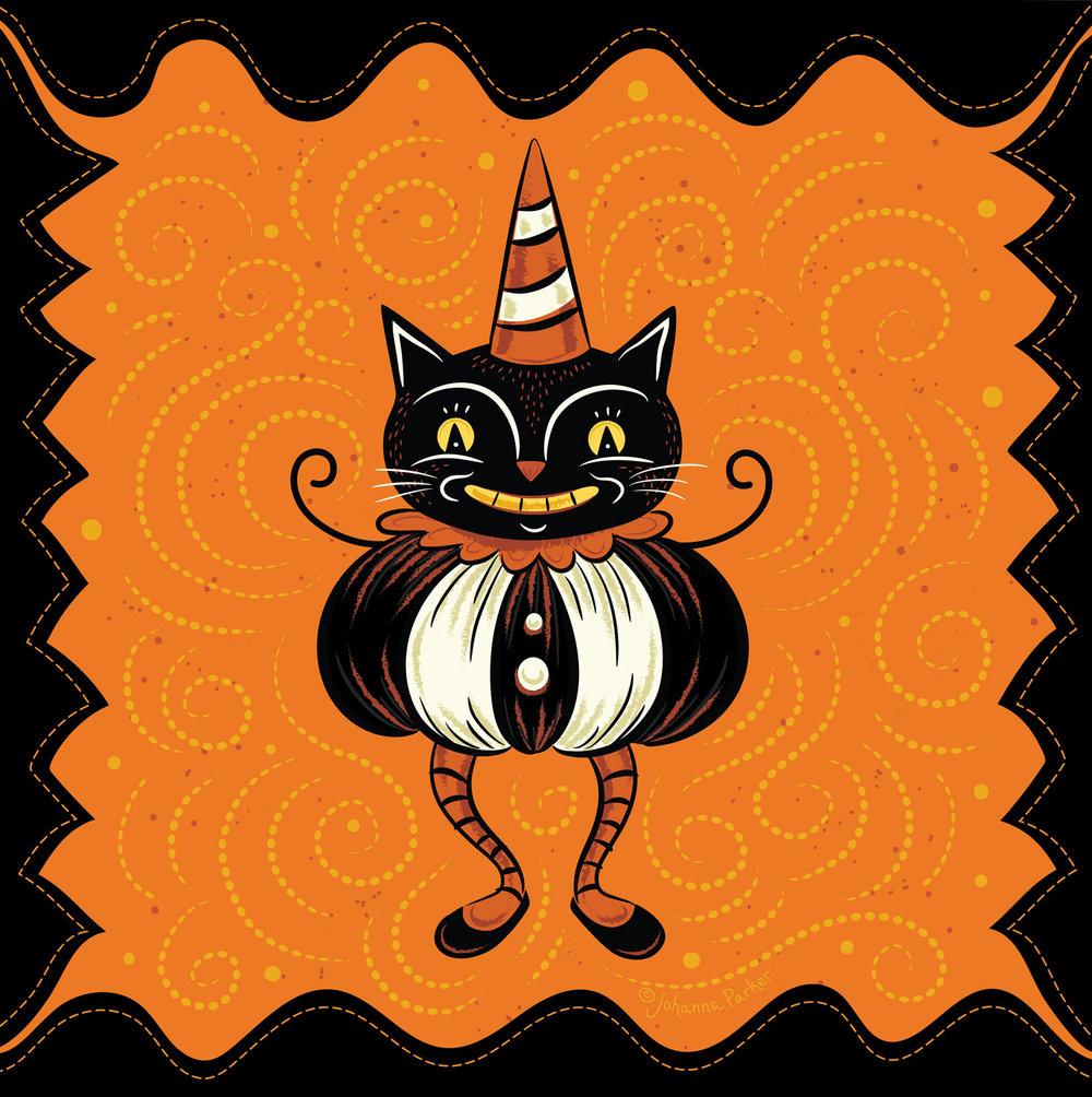 Punkin peep black cat