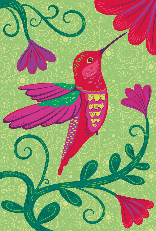 Nectar love red hummingbird
