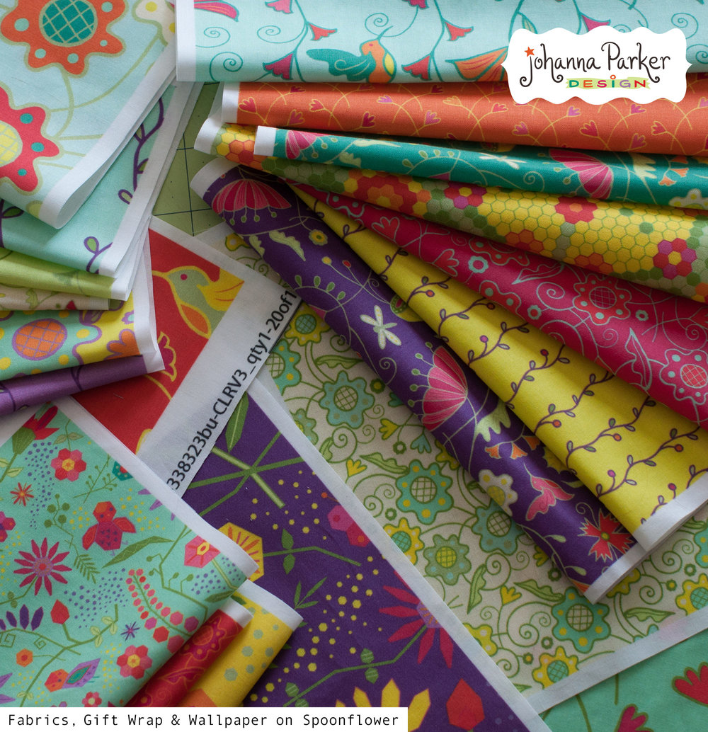 Garden delights fabric collection
