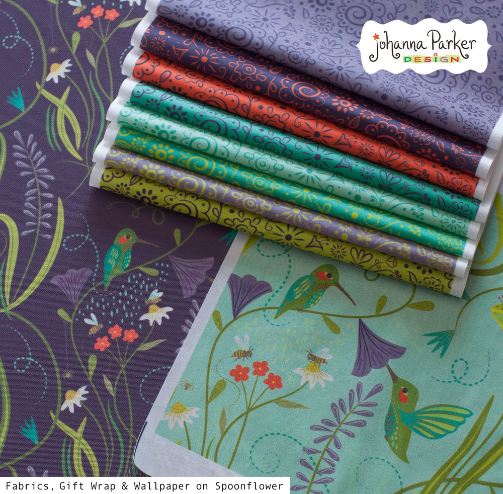 Nature's frolic fabric swatches
