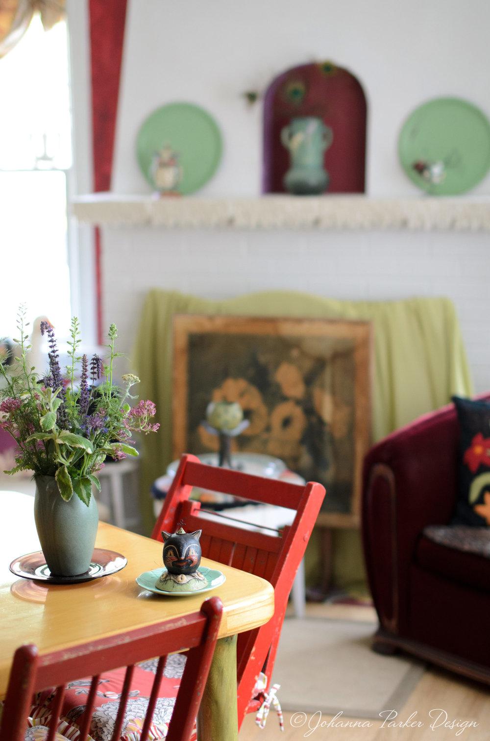 Living room flower bouquet