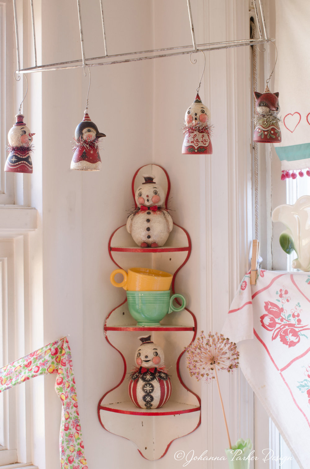 Christmas corner folk art