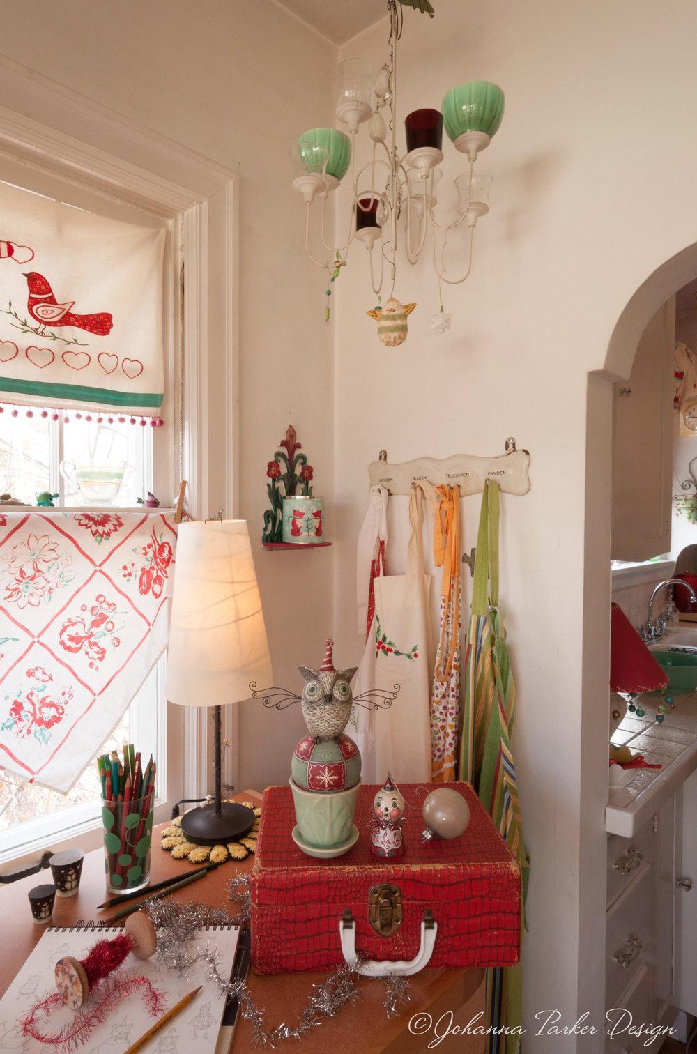 Christmas artist studio